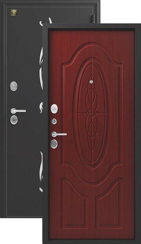 Сейф-дверь входная Зевс Z-7, 2 замка, 2 мм  металл, (чёрный шёлк+махагон)
