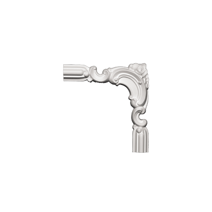 Угловой элемент Европласт из полиуретана 1.52.297, интернет магазин Волео