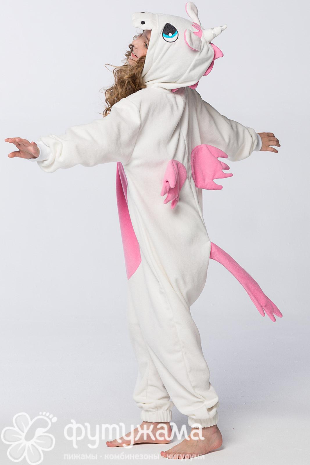 Детская пижама-кигуруми розовый единорог 60e5282dc4112