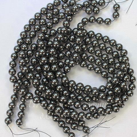 5810 Хрустальный жемчуг Сваровски Crystal Black круглый 3 мм, 10 шт ()