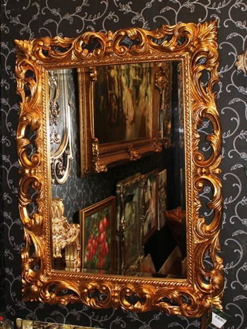зеркало в золотой раме  раме 01-09 ( by MAGIC MIRROR )