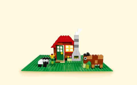 LEGO Classic: Строительная пластина зеленого цвета 10700 — 32x32 Green Baseplate — Лего Классик