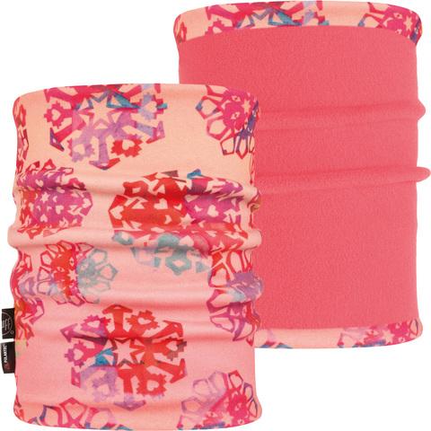 Двойной флисовый шарф-труба детский Buff Origami Flock Flamingo Pink