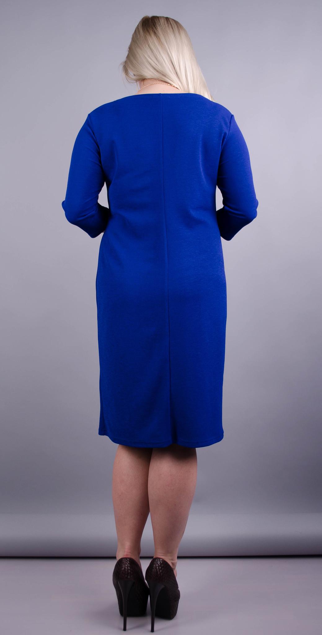 Арина. Платье больших размеров. Электрик. b3738f3d8f4ca