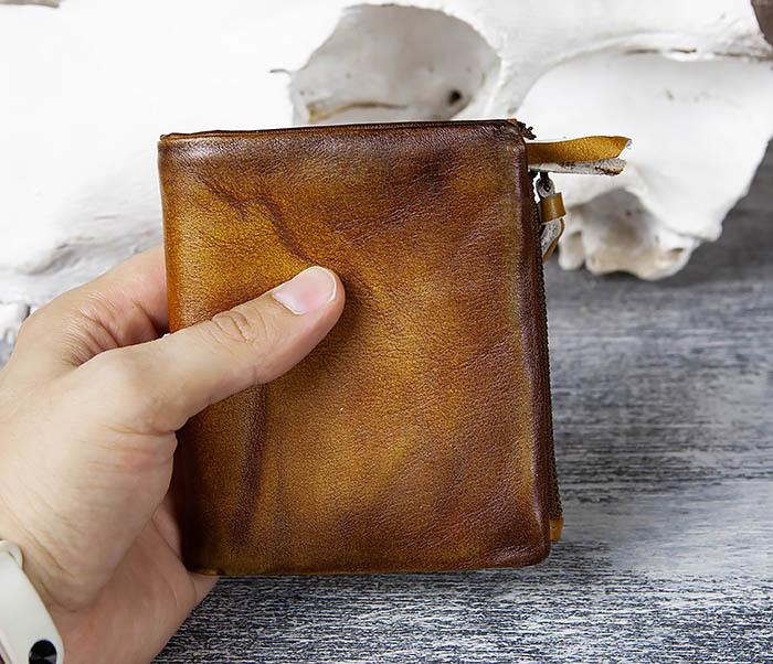 WL304-2 Винтажный кошелек из натуральной кожи фото 09
