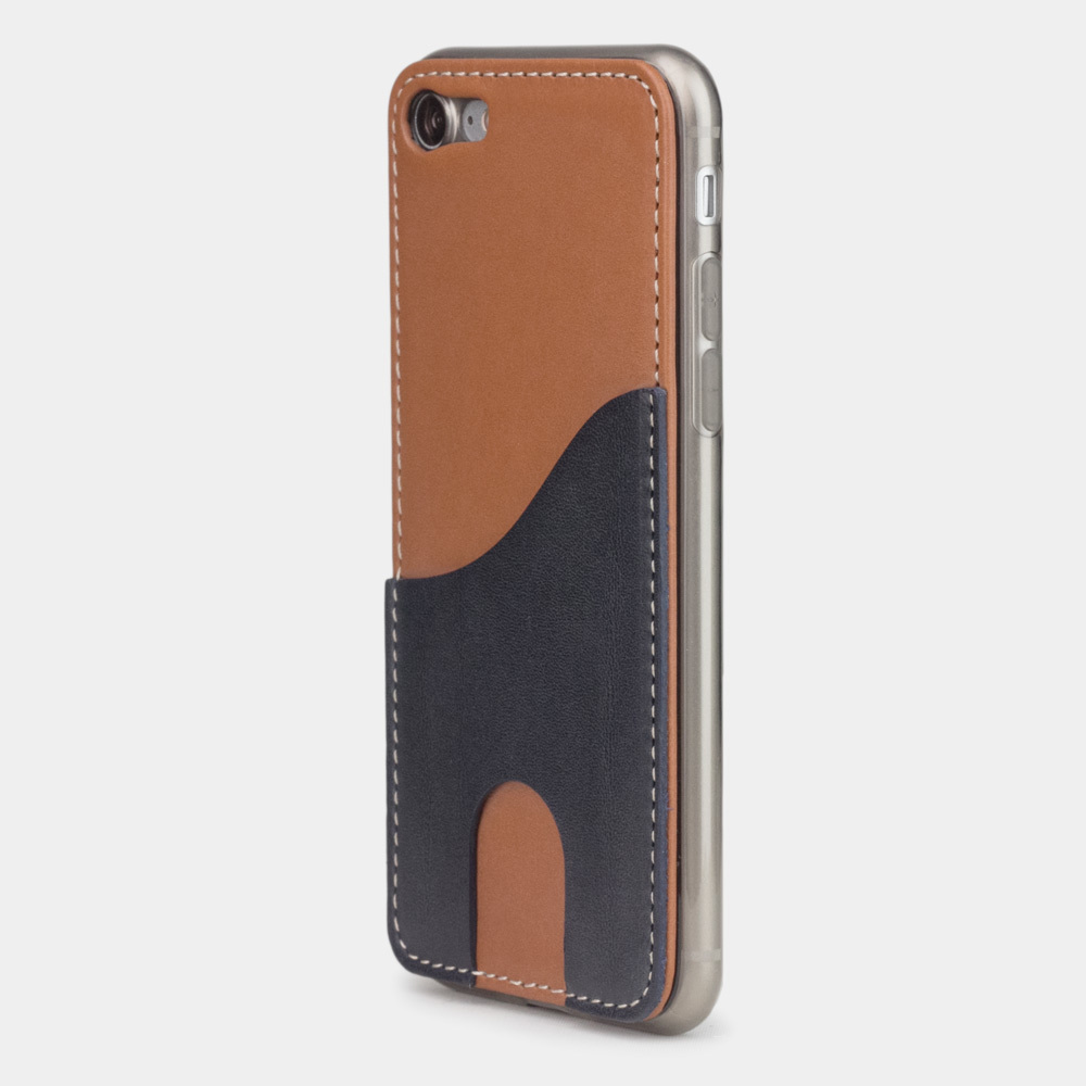 Чехол-накладка Andre для iPhone 7 из натуральной кожи теленка, коричневого цвета
