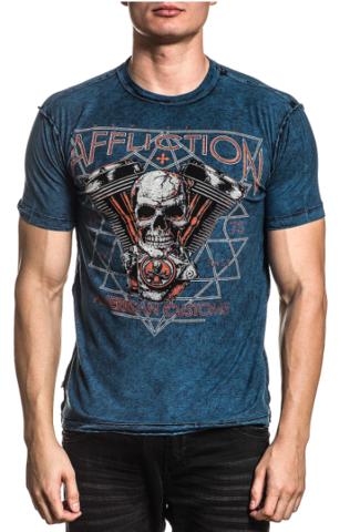Двусторонняя футболка Affliction AC PRAIRIE STORM