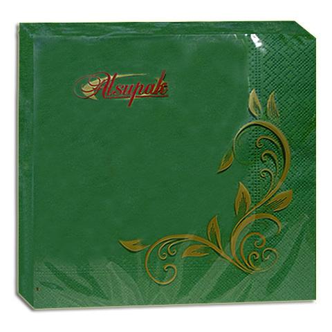 Салфетки 33х33 см зеленые двухслойные 20 шт.