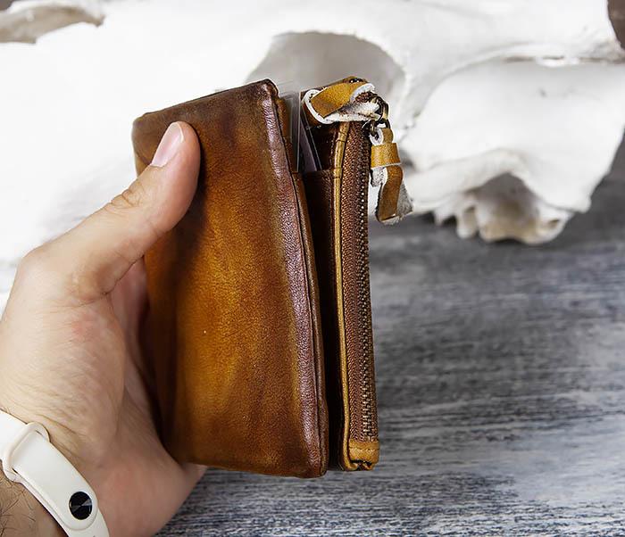 WL304-2 Винтажный кошелек из натуральной кожи фото 10