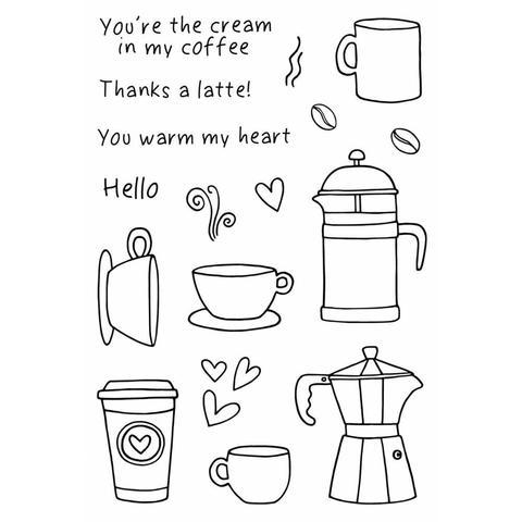 Набор силиконовых штампов -Coffee Time