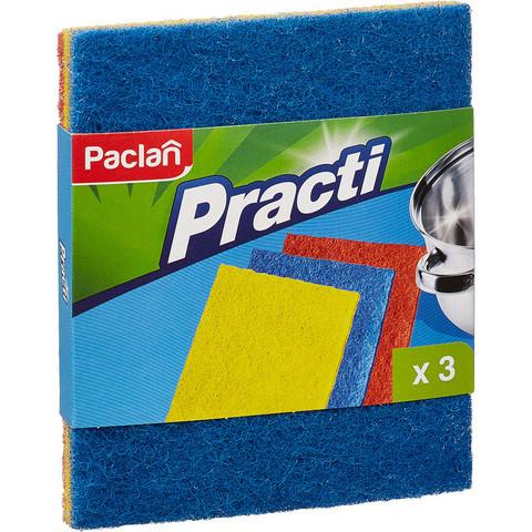 Губка абразивная набор разной жесткости 3 штуки д/ сильных загрязнений Pacl