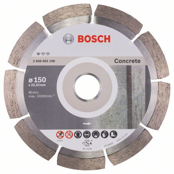 Алмазный диск Standart for Concrete 150-22,23 Bosch 2608602198