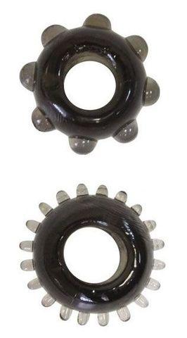 Набор из 2 эрекционных черных колец