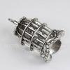 "Подвеска ""Птица в клетке"" (цвет - античное серебро) 40х24х17 мм"