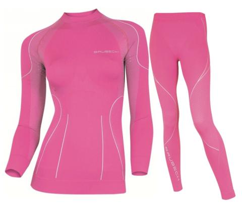 BRUBECK THERMO женский комплект термобелья розовый
