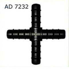 AD 7232 Соединение крестовое для трубки Dn16