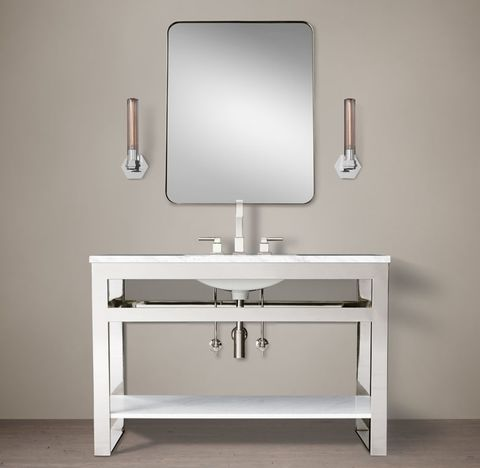 Bowery Single Extra-Wide Washstand with Marble Shelf