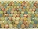 Нить бусин из бериллов, шар гладкий 10 мм