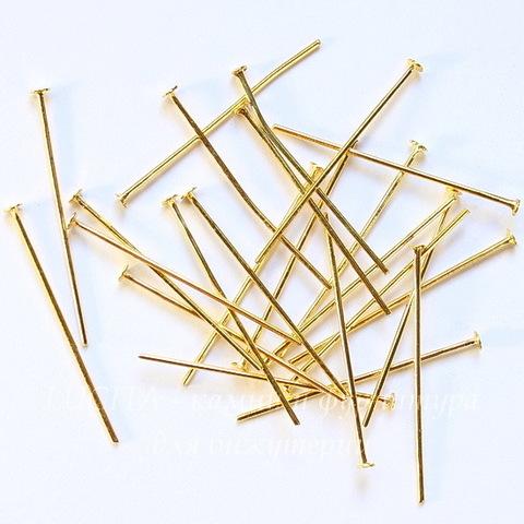 Комплект пинов - гвоздиков 30х0,7 мм (цвет - золото), 20 гр (примерно 150 шт)