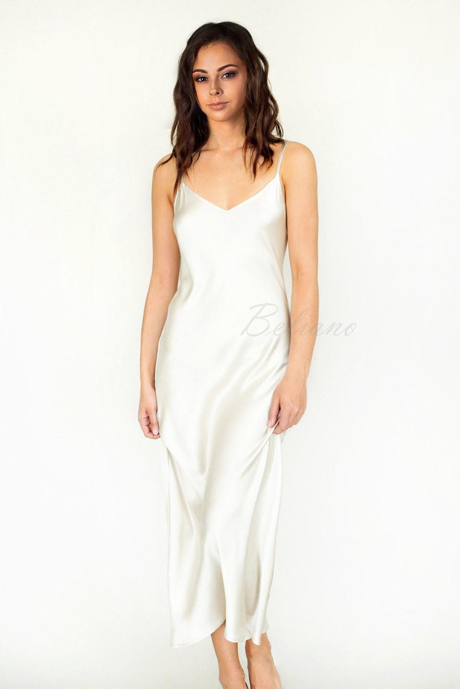 Шелковое платье комбинация из натурального шелка длинное в пол