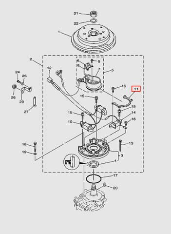 Держатель магнето для лодочного мотора T40 Sea-PRO (8-11)