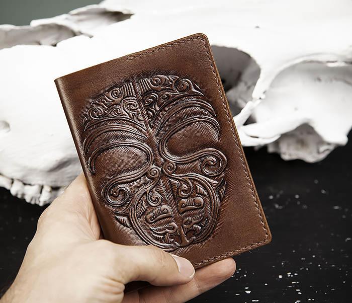 BC207 Обложка на паспорт ручной работы в этническом стиле Маори фото 06