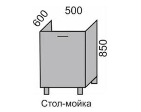 Стол-мойка МАРТА 500