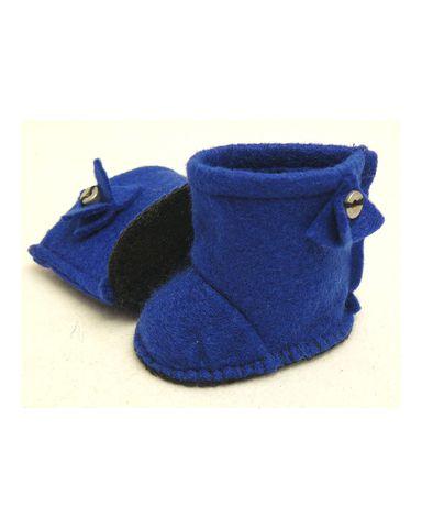 Сапожки-угги из фетра - Синий. Одежда для кукол, пупсов и мягких игрушек.