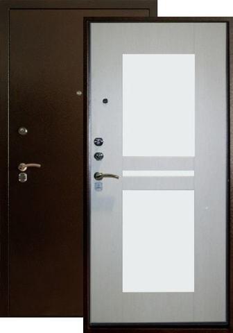 Дверь входная Форт Форт Б-25, 2 замка, 1,8 мм  металл, (медь антик+ясень белый)