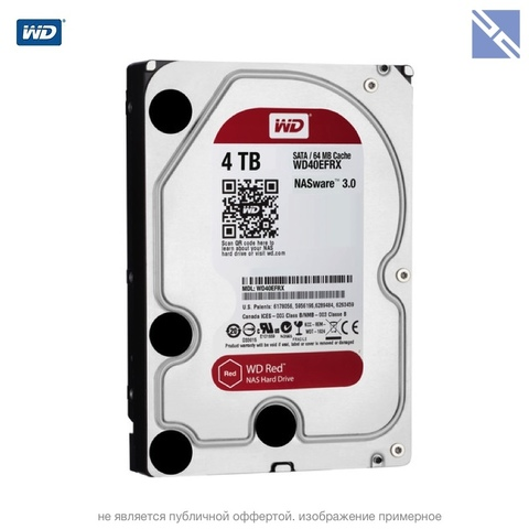 Диск Western Digital 6TB Red 5400 rpm SATA III 3.5