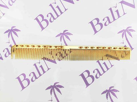 Расчёска профессиональная металлическая (золото)