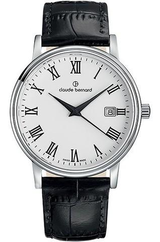 Купить мужские наручные часы Claude Bernard 53007 3 BR по доступной цене