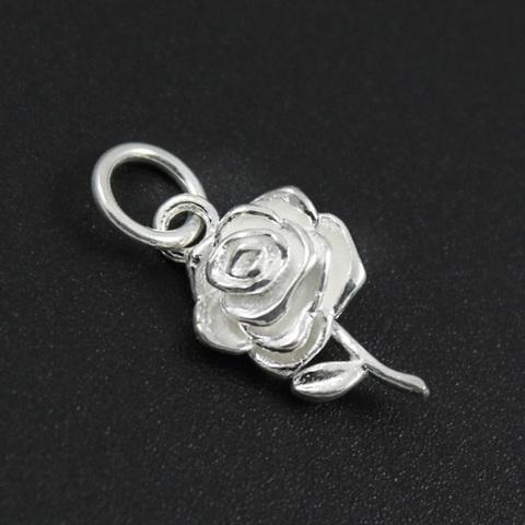 Подвеска Роза объемная 17 мм серебро 925 1 шт