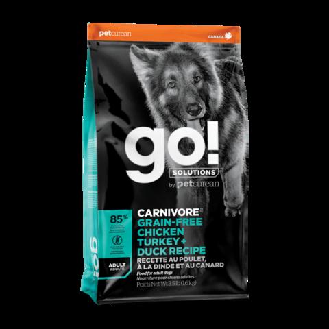 Go! Carnivore Сухой корм для собак 4 вида мяса с курицей, индейкой, уткой и лососем (беззерновой)