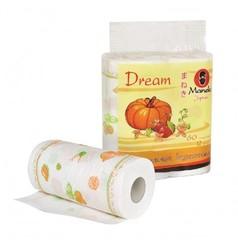 Полотенца кухонные бумажные, MANEKI, Dream, белые с рисунком, 2 рулона