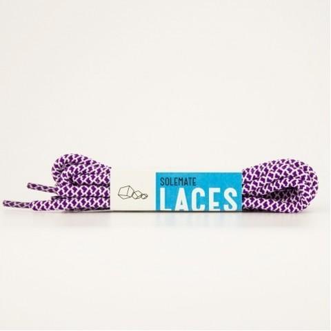 Шнурки Solemate Laces Фиолетово-Белого Цвета