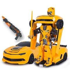 Радиоуправляемый робот трансформер MZ Chevrolet Camaro с пультом управления ввиде ружья 1:14 2.4G - MZ-2314K