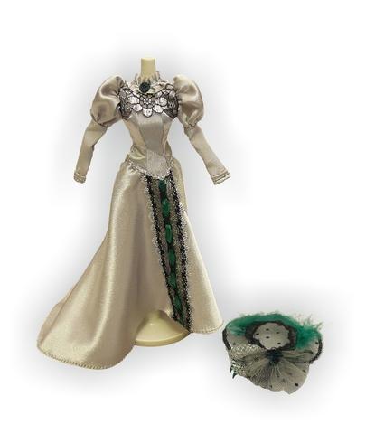 Платье для визитов - Серый. Одежда для кукол, пупсов и мягких игрушек.