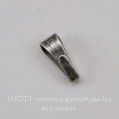 Винтажный декоративный элемент - бейл 8х4 мм (оксид серебра)