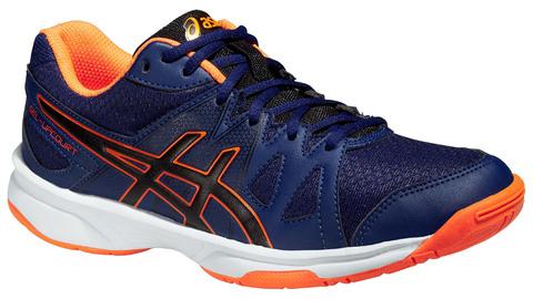 Детские волейбольные кроссовки Asics Gel-Upcourt GS темно-синие