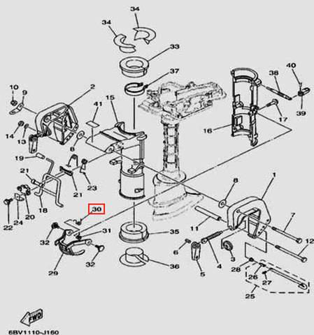 Пружина для лодочного мотора F5 Sea-PRO(16-30)