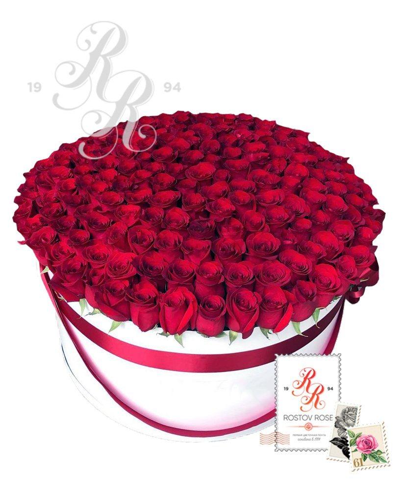 301 Красная роза в коробке