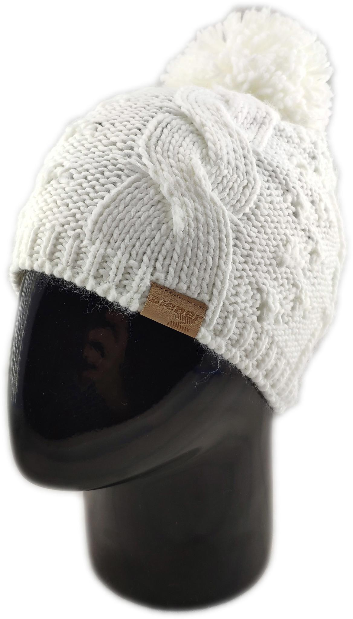Шапки с помпоном Шапка Ziener Itera Hat Sm Acc Lady 323 white IMG_20190902_124405.jpg