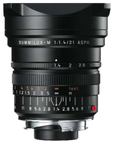 Leica Summilux-M 21mm f/1.4 ASPH (black)