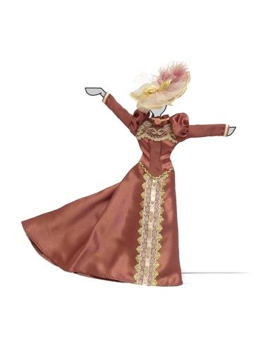 Платье для визитов - Демонстрационный образец. Одежда для кукол, пупсов и мягких игрушек.