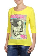 6022-3 кофта женская, желтая