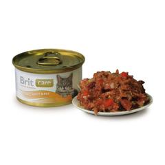 Brit Care Tuna,Carrot&Pea Тунец, морковь и горошек, консервы д/кошек, 80г