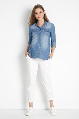 Блузка для беременных 08431 синий