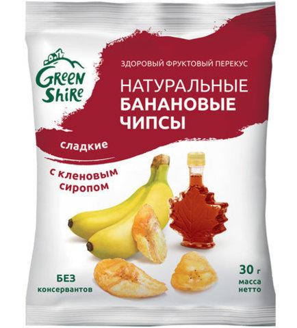 Банановые чипсы, сладкие с кленовым сиропом, 30г