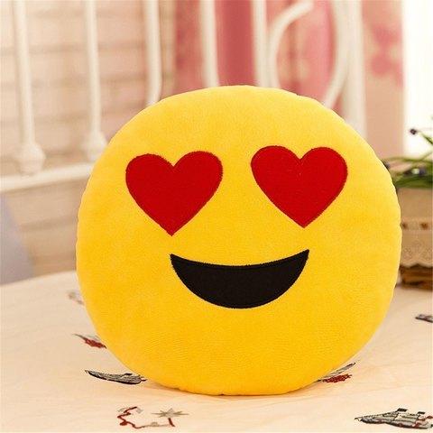 Подушка Emoji Heart Eyes (Эмоджи Сердечки)